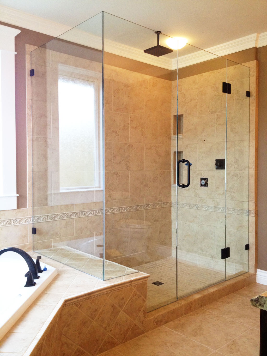 Picture gallery of our custom glass showers bathrooms in victoria bc royal oak glass victoria - Picture of bathroom ...
